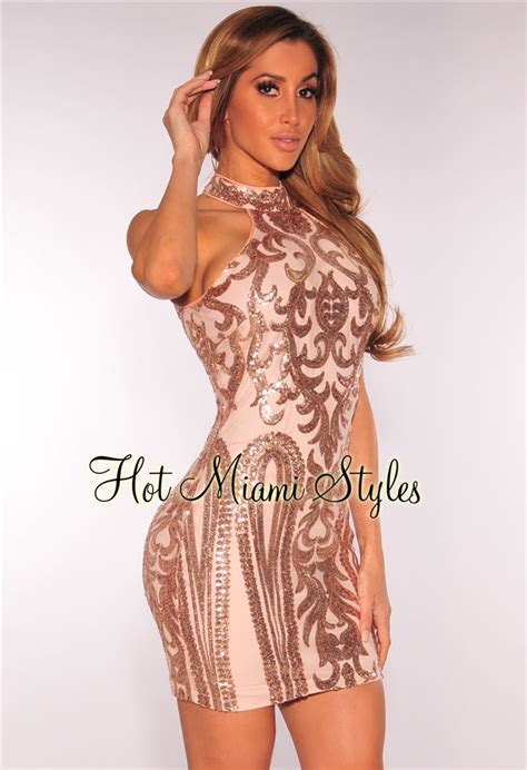 nude dresses rose gold victorian sequins nude illusion dress