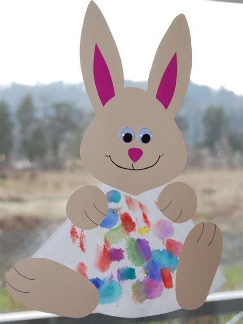 bunny crafts for preschool crafts for easter bunny sun catcher craft