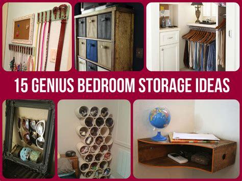 bedroom storage idea 15 genius bedroom storage ideas