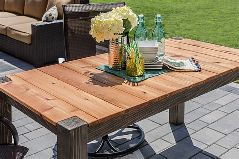 cedar patio table plans cedar patio table buildsomething