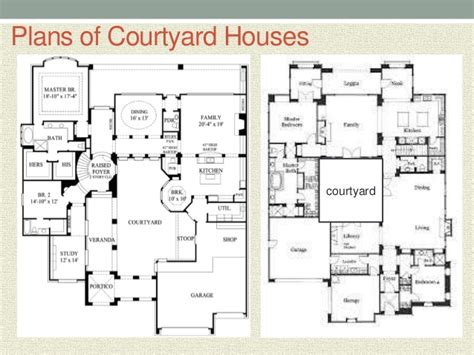 central courtyard house plans courtyard house style
