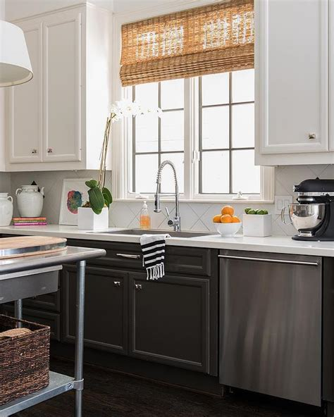 lower kitchen cabinets tuxedo cabinets with white uppers and black lowers