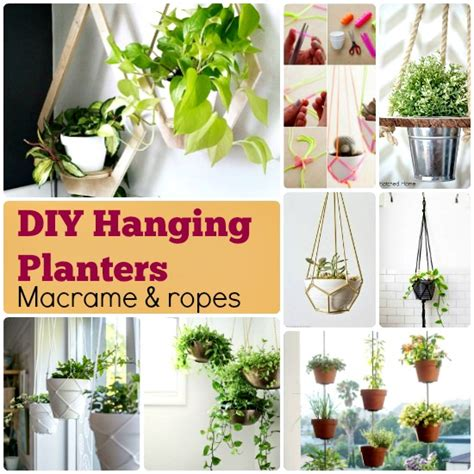 hanging planters diy 70 diy planter box ideas modern concrete hanging pot
