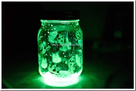 glow stick crafts for spooky glow jars craft