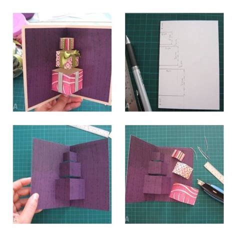 how to make 3d cards how to make simple 3d gift card step by step diy tutorial
