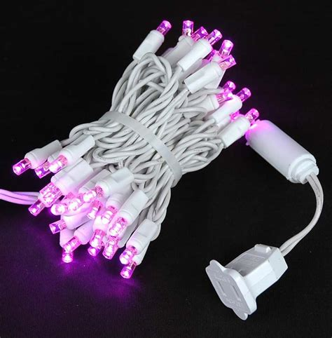 pink led lights white wire pink led net lights white wire 4 x 6 novelty lights inc