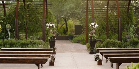 herb garden at desert botanical garden weddings
