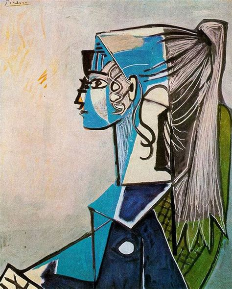 picasso paintings the with the ponytail sylvette 1954 by pablo picasso