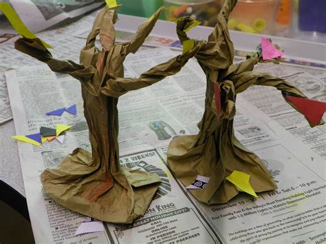 paper bag tree craft paper bag tree celebrating family
