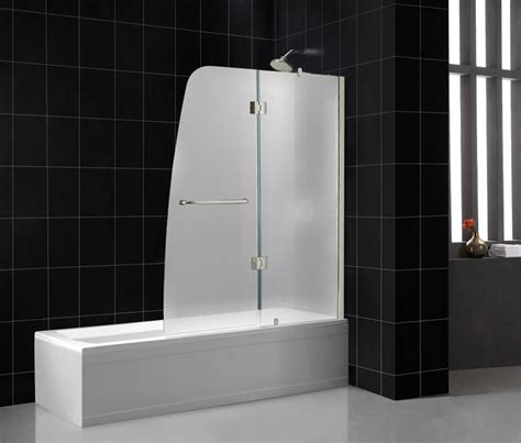 glass bath shower doors frosted vs clear glass shower doors bathroom