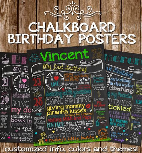 diy chalkboard poster customized chalkboard poster sign for by customchalkposters