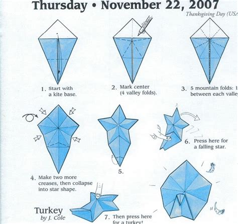 origami turkey diagrams turkey origami