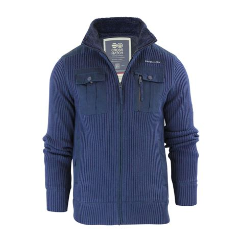 knitted jacket mens mens cardigan jacket crosshatch palax knitted fleece