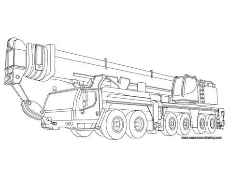 liebherr mobile crane coloring page