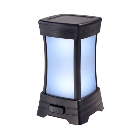 solar lights at home depot amerelle solar black led patio light 73175 the home depot