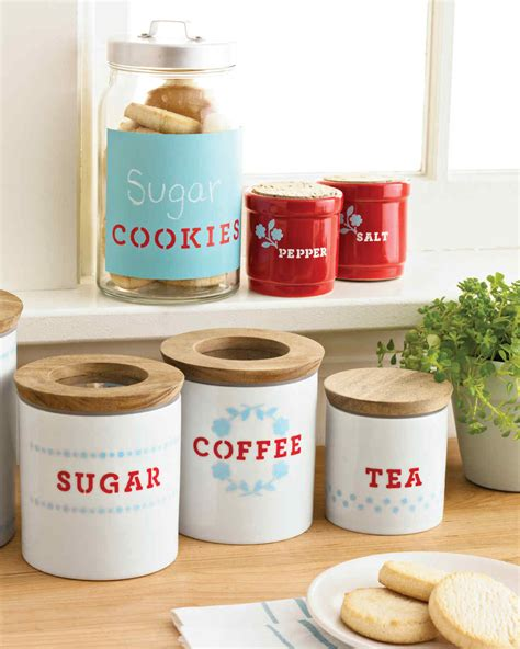 storage canisters kitchen stenciled kitchen storage containers