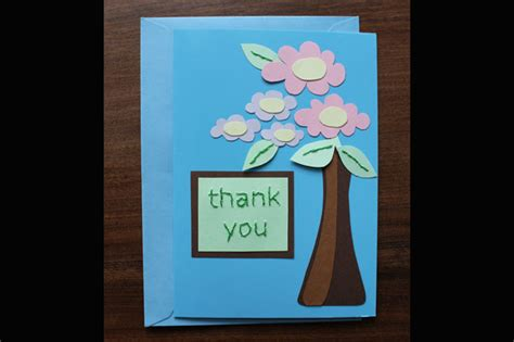 how to make a thank you card for a recent card embroidered thank you cards diy