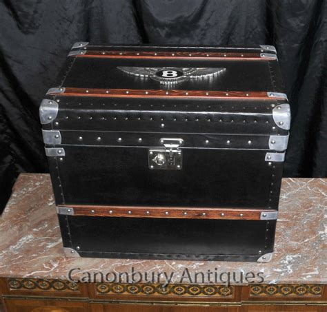 bagages anglais bentley coffre de voiture steamer side box table