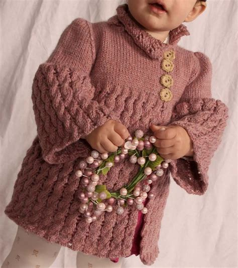 knitted dress patterns for toddlers carcoat baby toddler coat dress by aknittedembrace