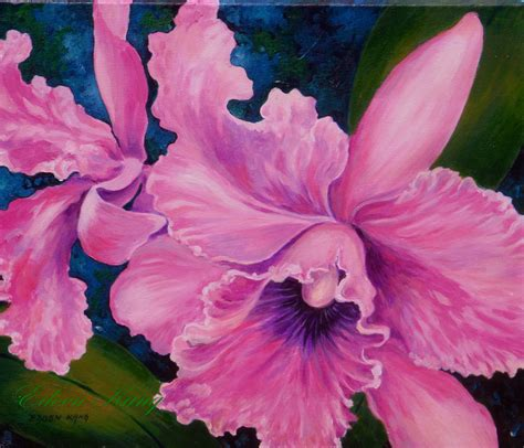 acrylic painting flowers canvas unavailable listing on etsy