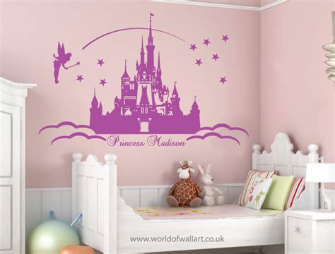 princess castle wall stickers large personalised princess castle wall stickers