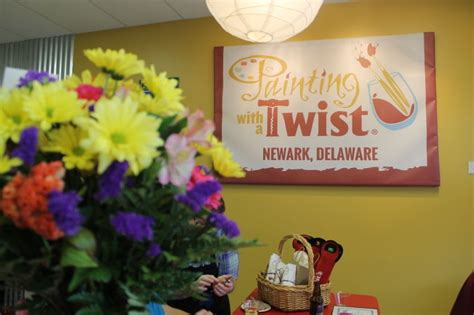paint with a twist in delaware paint and sip franchise opens in suburban plaza arts