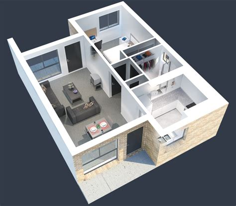 1 Bedroom House Floor Plans 50 one 1 bedroom apartment house plans architecture
