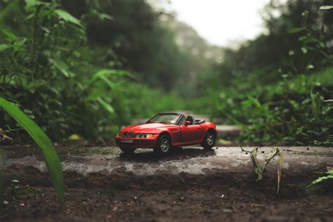 Car Toys Wallpaper by And White Beetle Car On Grass Field In Bokeh