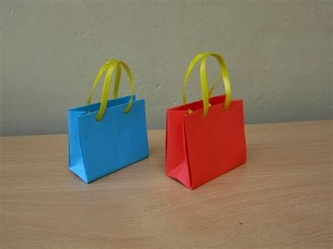 origami school bag creative corner how to make paper bags colorful