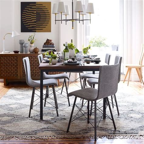 west elm dining room chairs industrial dining table west elm