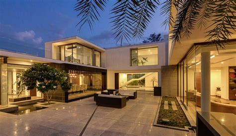 homes with courtyards contemporary new delhi villa with amazing courtyard and water features