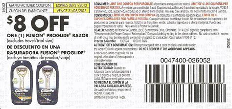 fusion promo code gillette razor coupon print coupon king