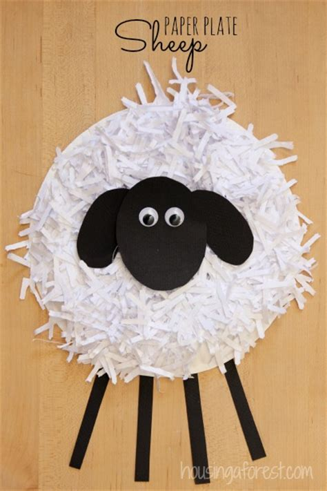 sheep crafts for paper plate sheep craft housing a forest