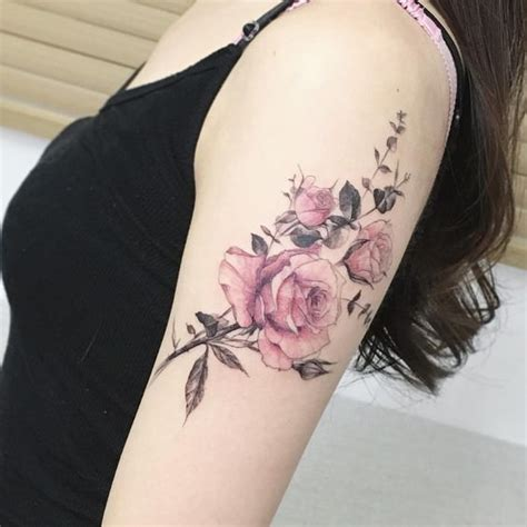 picture of rose arm tattoo