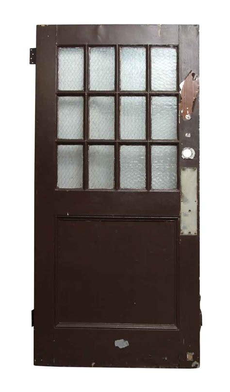 wooden doors with glass panels wooden doors with chicken wire glass panels olde things