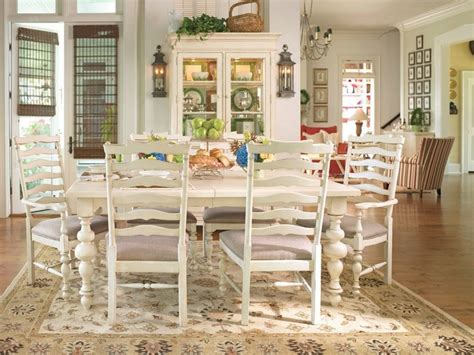 paula deen dining room sets paula deen home 7 pc linen paula s rectangular leg table