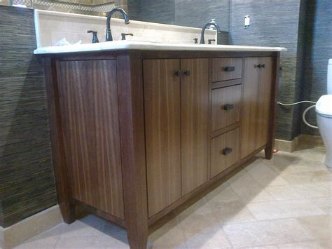 walnut vanity custom made modern walnut bath vanity by dennisbilt custom