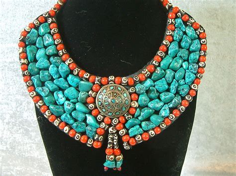 how to make turquoise jewelry vintage handcrafted tribal turquoise necklace tag