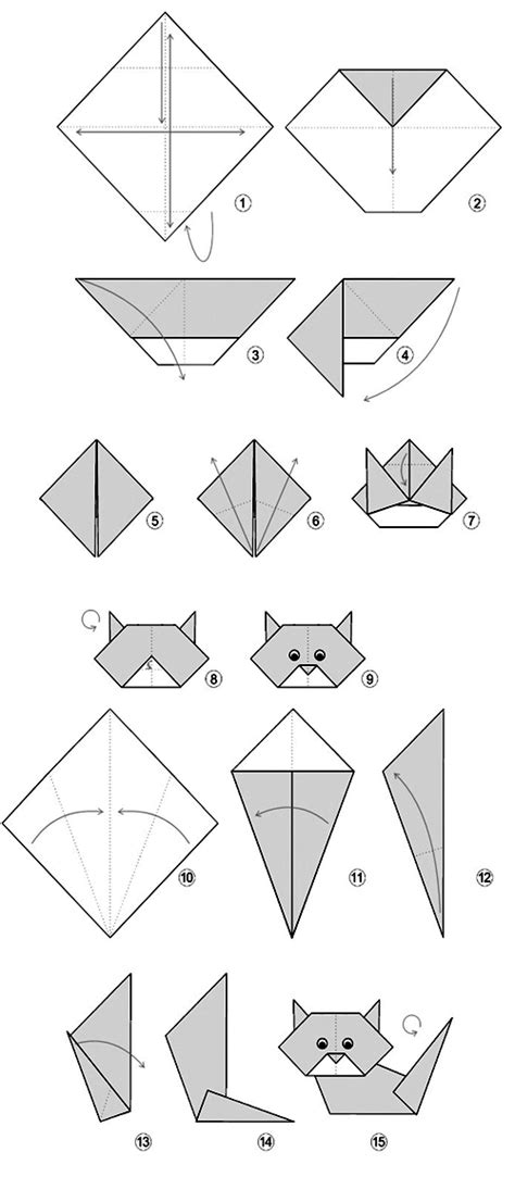 how to make an easy origami cat origami simple cat origami
