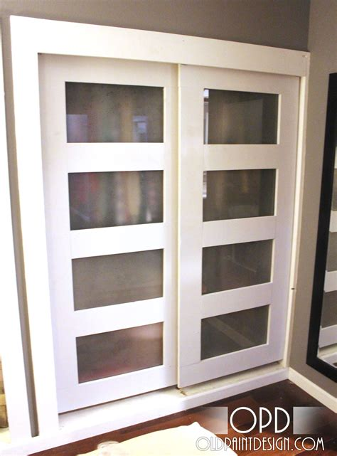 bypass closet door white bypass closet doors diy projects