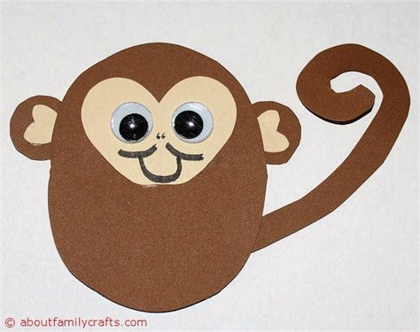 monkey craft how to make paper animals about family crafts