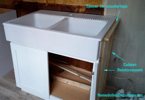 Kitchen Cabinet Remodel Cost ikea domsjo sink in non ikea kitchen cabinet diy