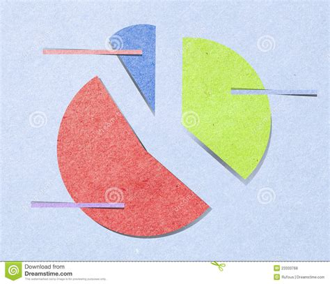 chart paper craft graph with recycled paper craft stick royalty free stock