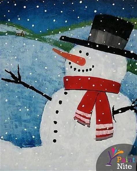 paint nite snowman paint nite snowman 1
