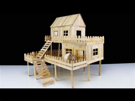 how to make a small house how to make popsicle stick house for rat
