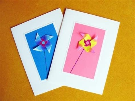 how to make origami birthday cards greeting cards using an easy origami windmill