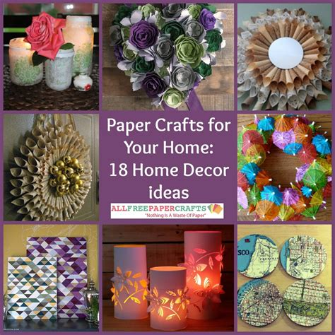 paper craft decoration home paper crafts for your home 18 home decor ideas