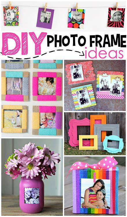 ideas for to make diy photo frame ideas crafty morning