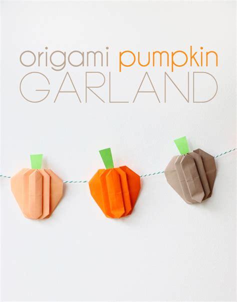origami pumpkin origami pumpkin garland my poppet makes