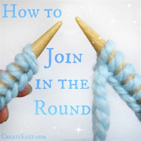 Creatiknit Learn To Join In The With Circular